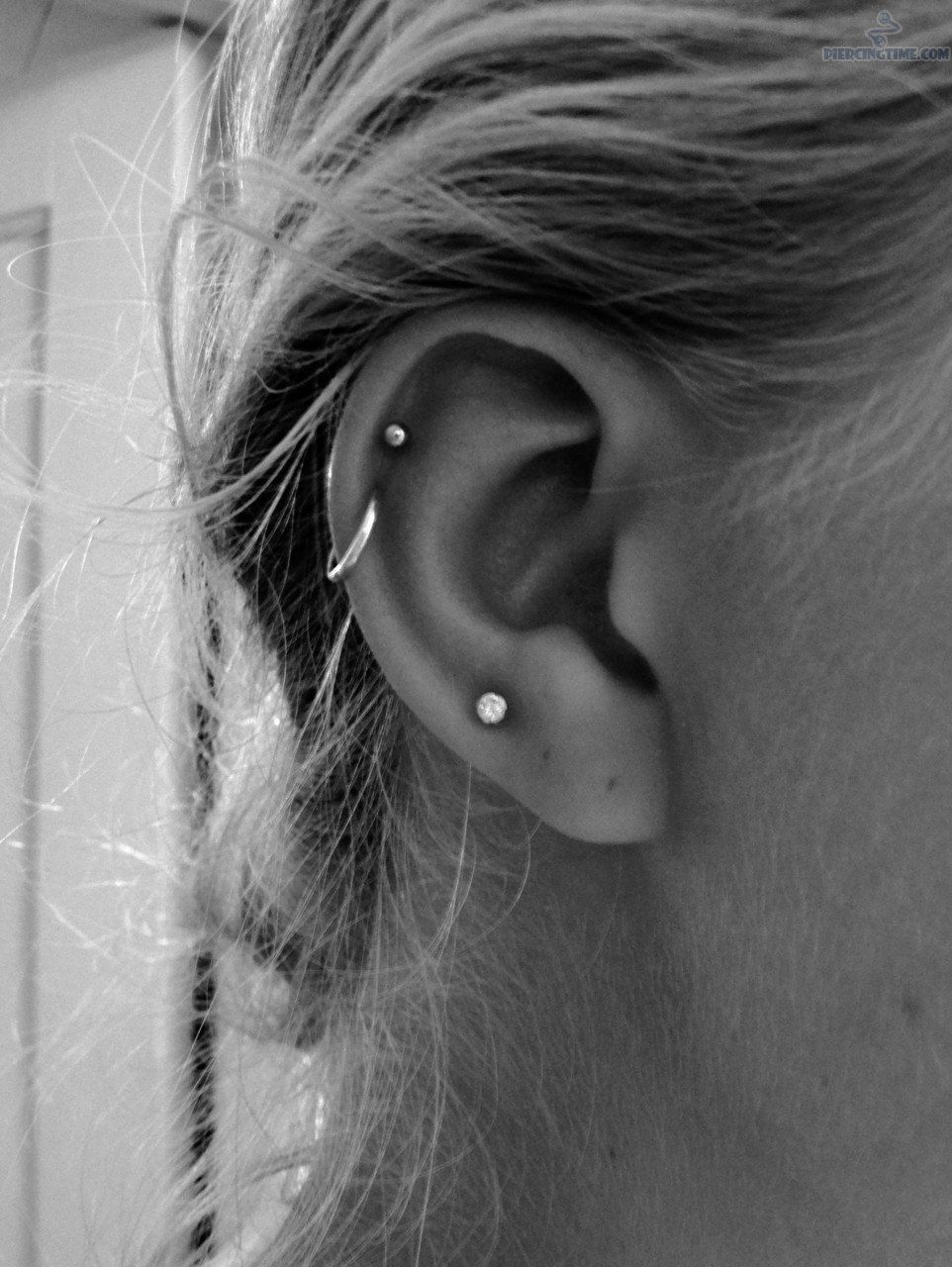 I Absolutely Love The Stud Cartilage Piercing And The Hoop Helix