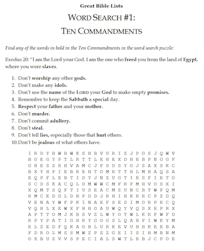 24++ Bible worksheets for 5th graders Top