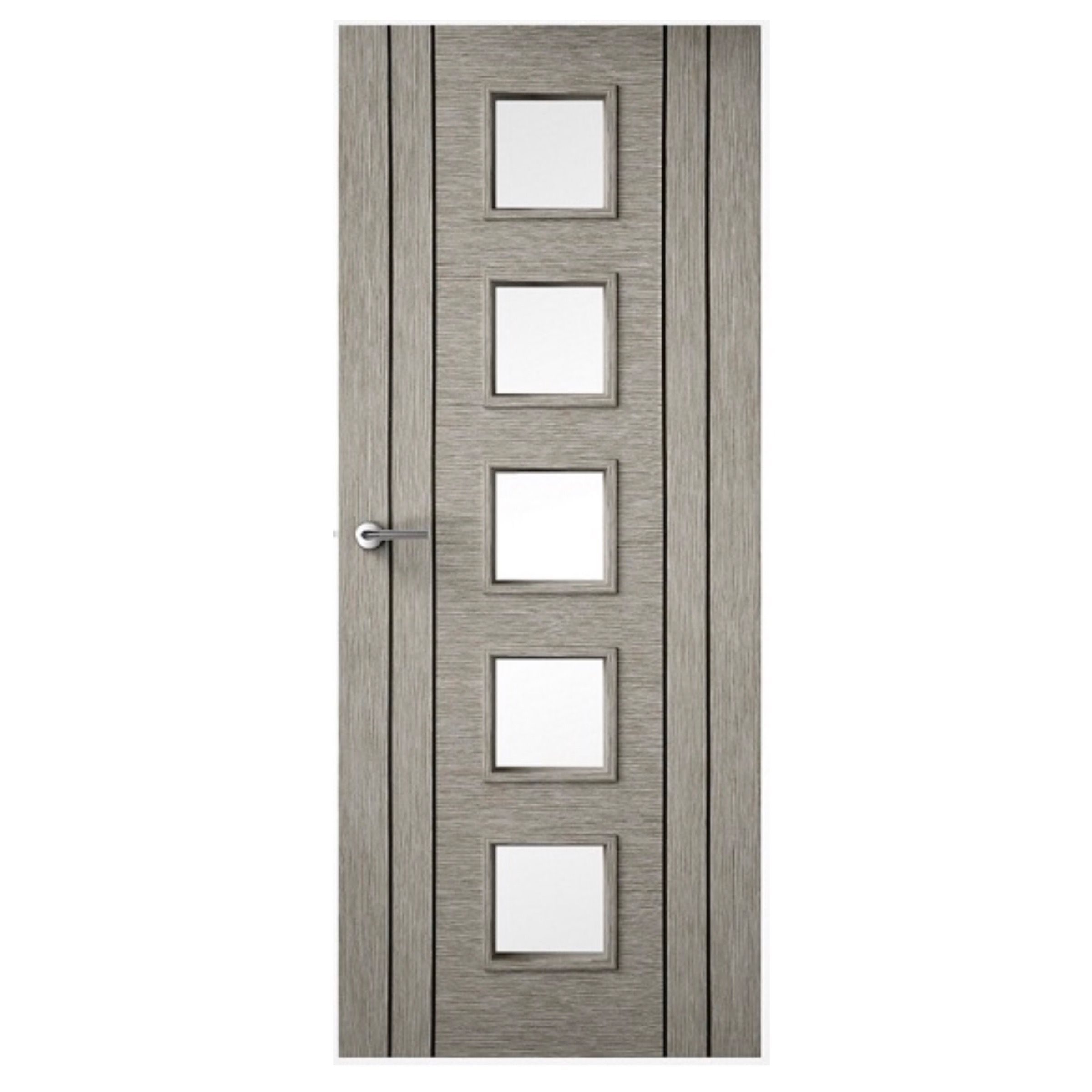 Light Grey Door - 4 LIne Vertical - 10G Clear Glass door - The ...