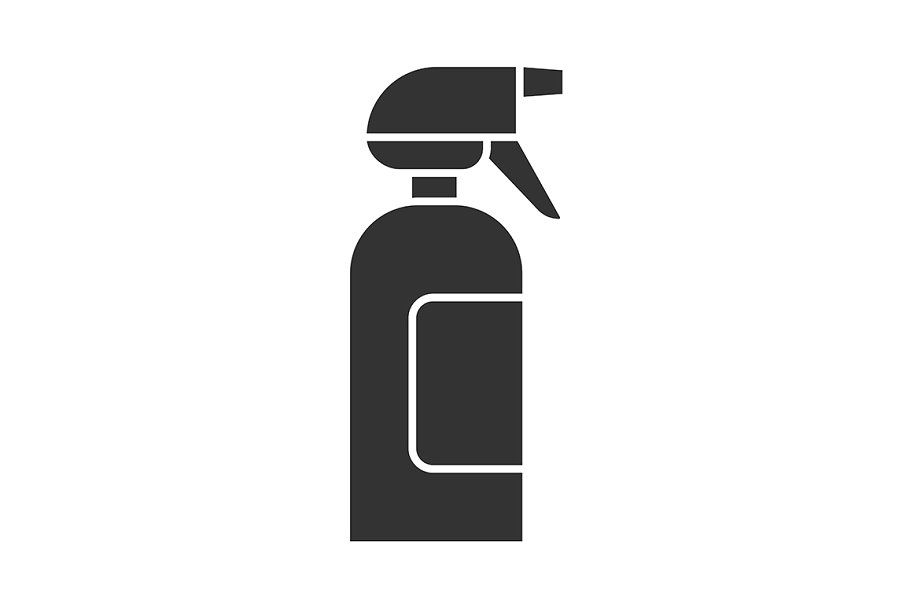 Spray Bottle Glyph Icon Spray Bottle Glyph Icon Icon