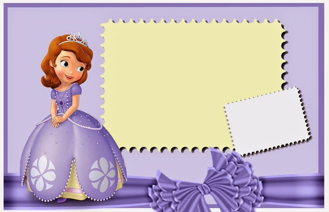Sofia the First Free Printable Invitations, Cards or Photo Frames ...