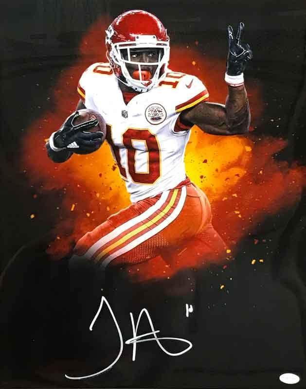 3c51e01fc1c Tyreek Hill Signed Black Custom PEACE! 16x20 Photo Kansas City Chiefs  Football, Nfl Football