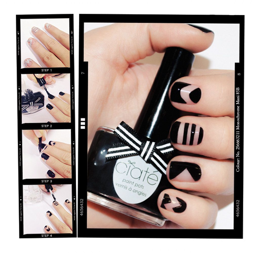 GET THE LOOK: Negative Space Mani | Sephora Beauty Board #Sephora #nailart