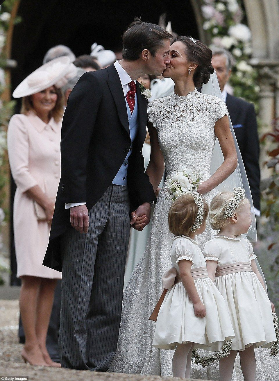 Pippa middleton and james matthews leave the church as man and wife