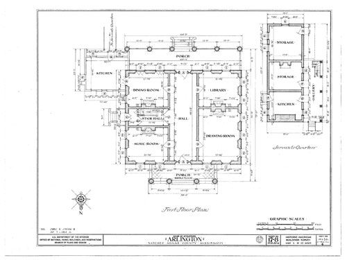 Floor Plan Antebellum Homes And Plantations Learn Nc