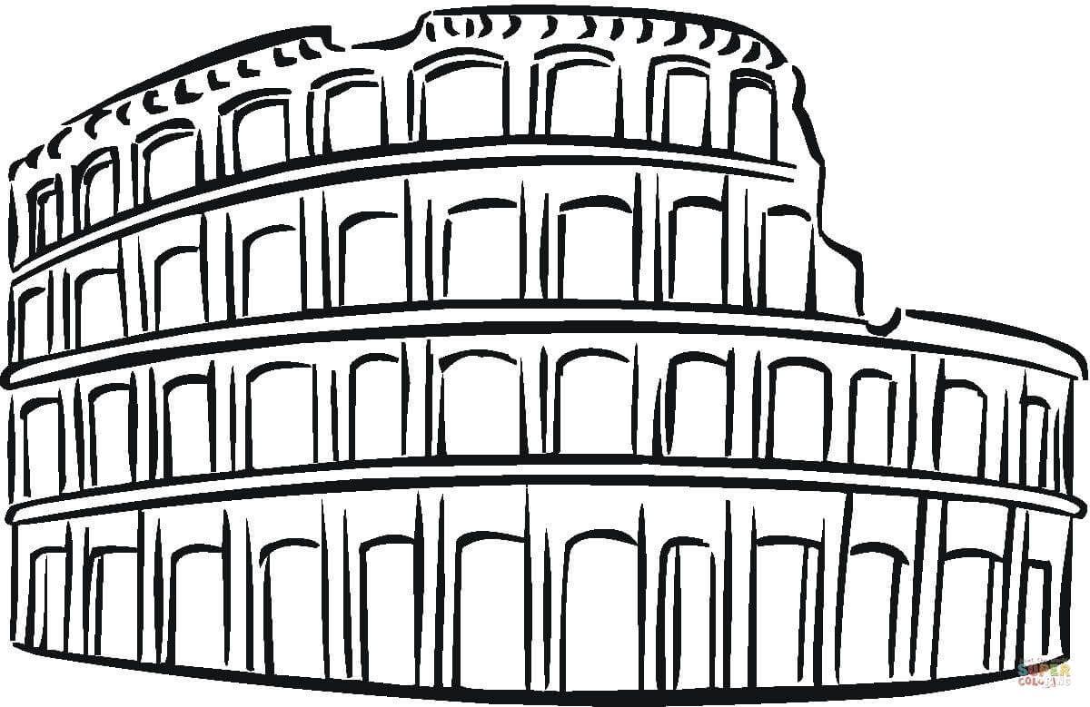 Colosseo Da Colorare Ide Menggambar Gambar Ide