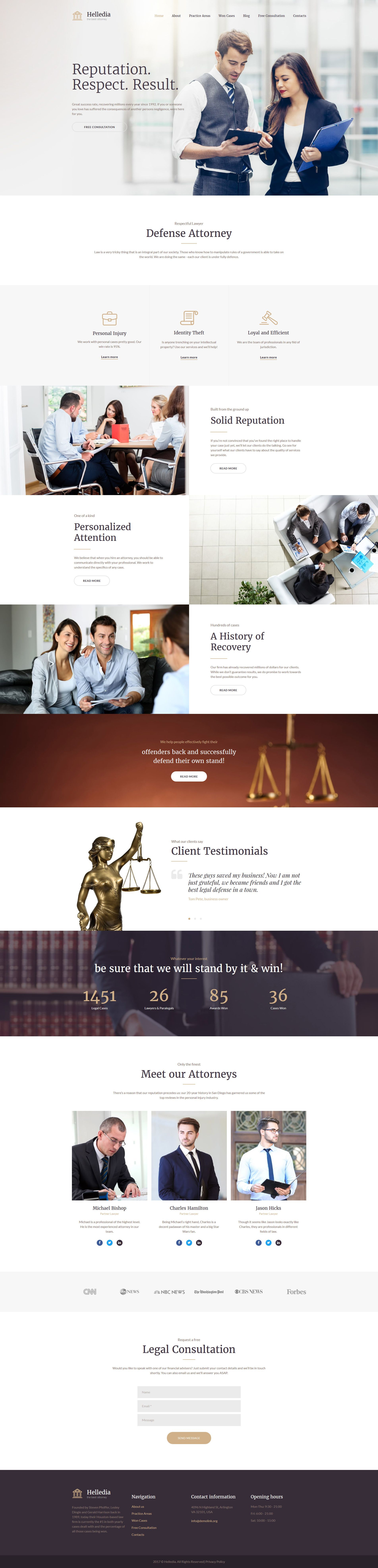 Helledia - Lawyer Premium Moto CMS 3 Template | New Website ...