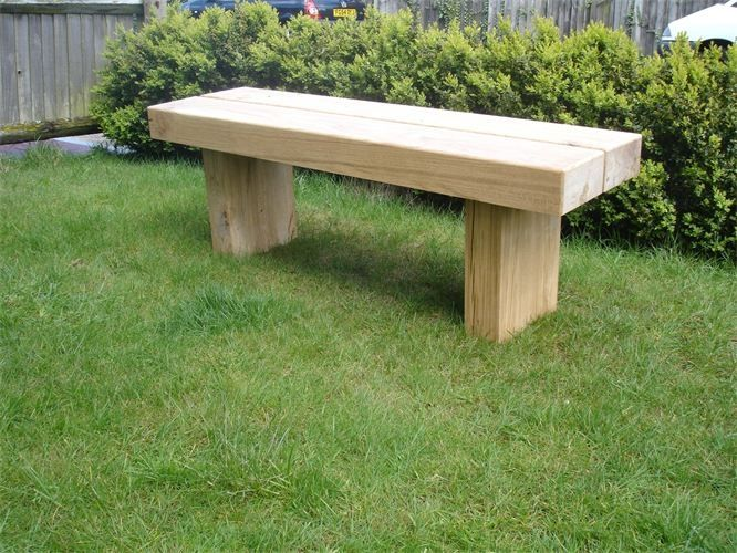 original chunky wooden garden table plans