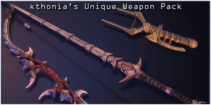 Kthonia S Unique Weapon Pack In 2021 Elder Scrolls Games Skyrim Scrolls Game