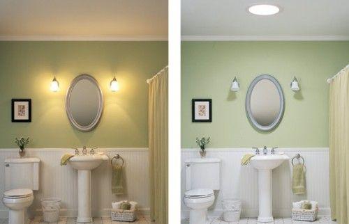 Tubular Daylighting Devices Bring In Natural Light Tubular Skylights Windowless Bathroom Skylight