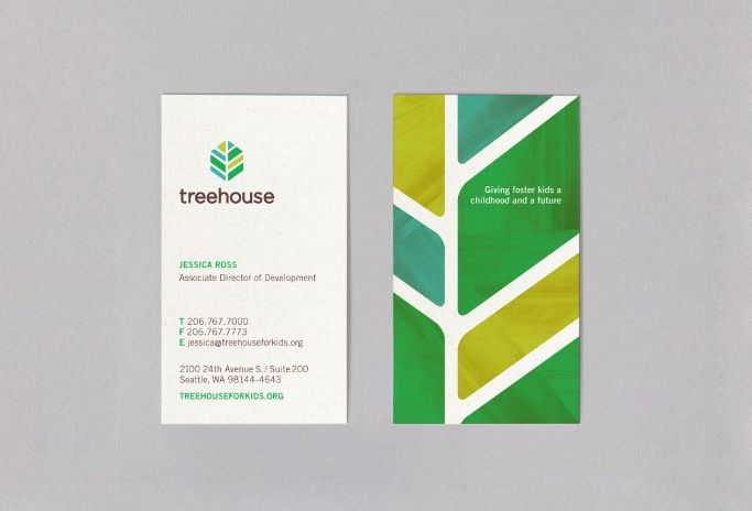 Treehouse - Business Card Design Inspiration | Card Nerd ...