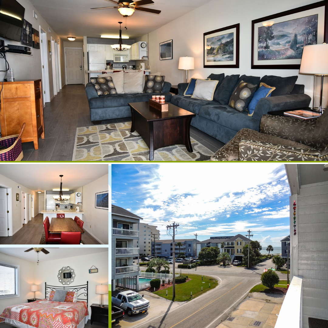 Sandy Shores I 203 Is A Three Bedroom Two Bath Second Row Condo Located 0 8 Miles North Of The Garden City Pier This Cond Garden City Condo Garden City Beach