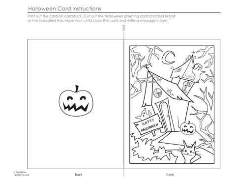 Happy Halloween Card to Color (Printable Halloween Activity for ...