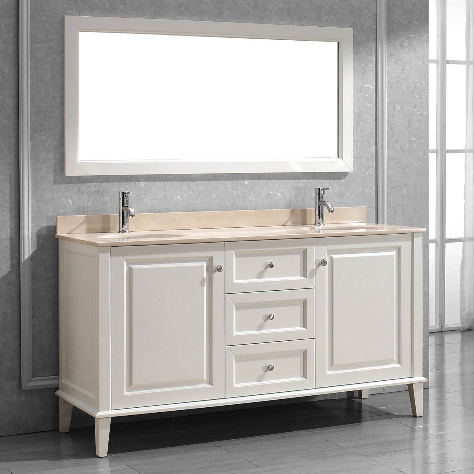 Bauhaus Bath Milly 63 In Single Bathroom Vanity Set With Mirror