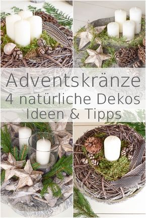 Photo of Beautiful natural Advent wreaths: 4 great ideas for you – Mrs Greenery