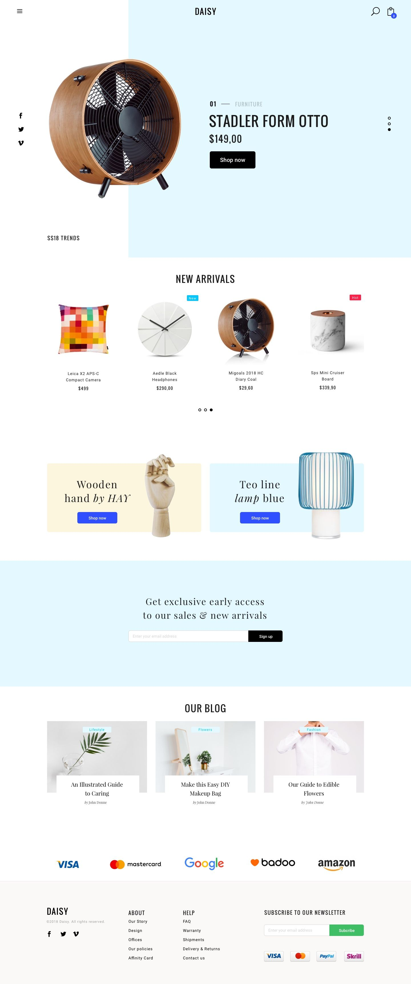Daisy Minimal And Clean Ecommerce Sketch Template Bootstrap 4 Ecommerce Minimal Modern Resp Ecommerce Website Template Ecommerce Ecommerce Website