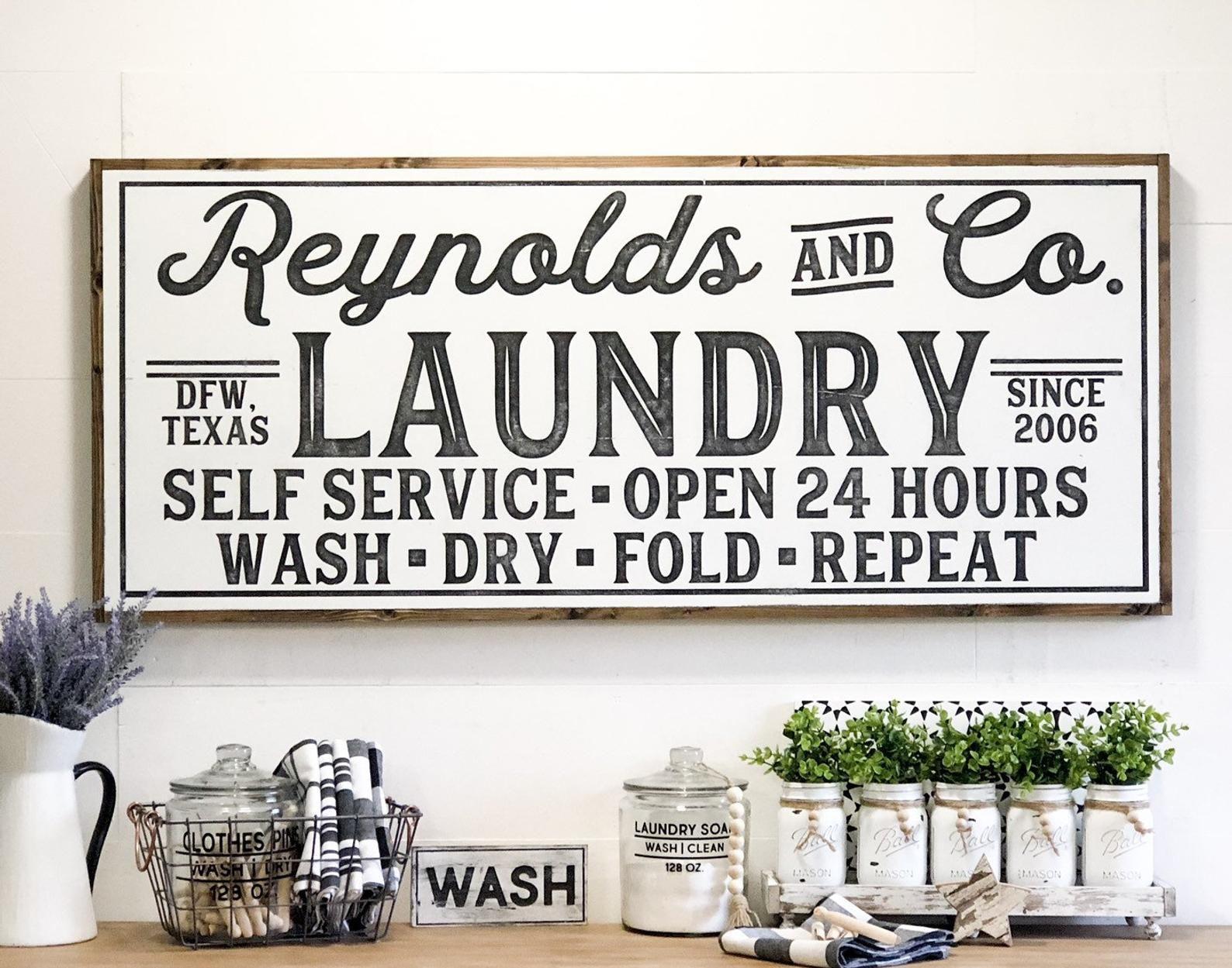 Laundry Room Sign, Laundry Sign, Laundry Room Decor