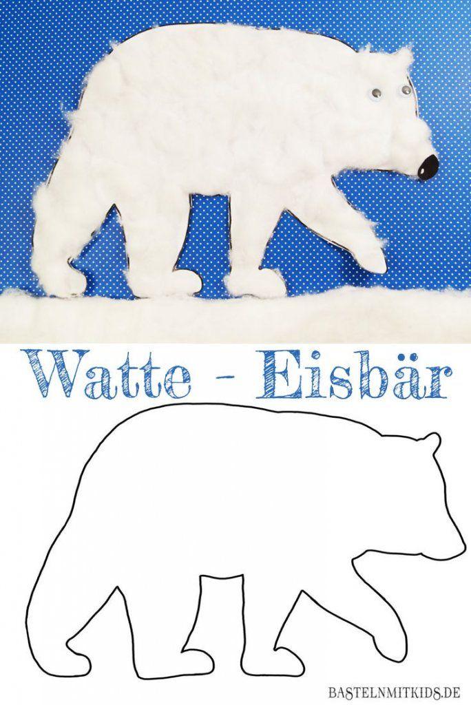 Eisbär basteln mit Kindern und Kleinkindern | Winter, Kindergarten ...