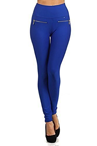Fashion MIC Womens High Waist Fleece Leggings with Zipper Detail One Size 2 pairsblackcharcoal ** For more information, visit image link.
