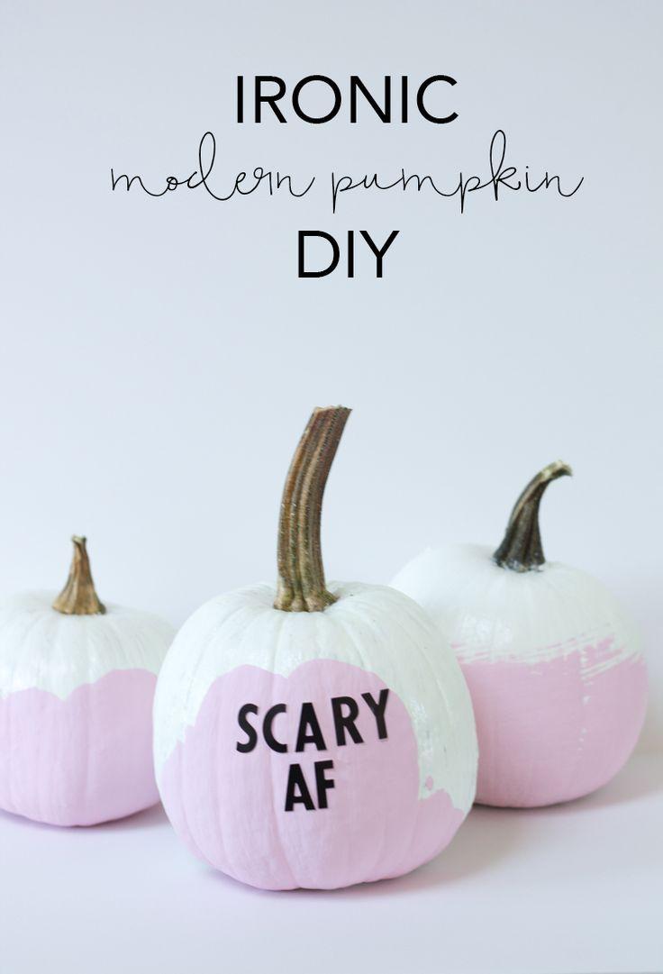 Ironic Modern Pumpkin DIY