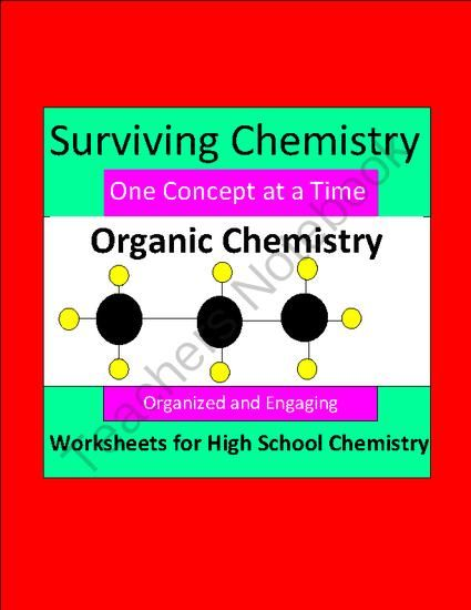 Organic Chemistry - Organized & Engaging Worksheets for High School ...