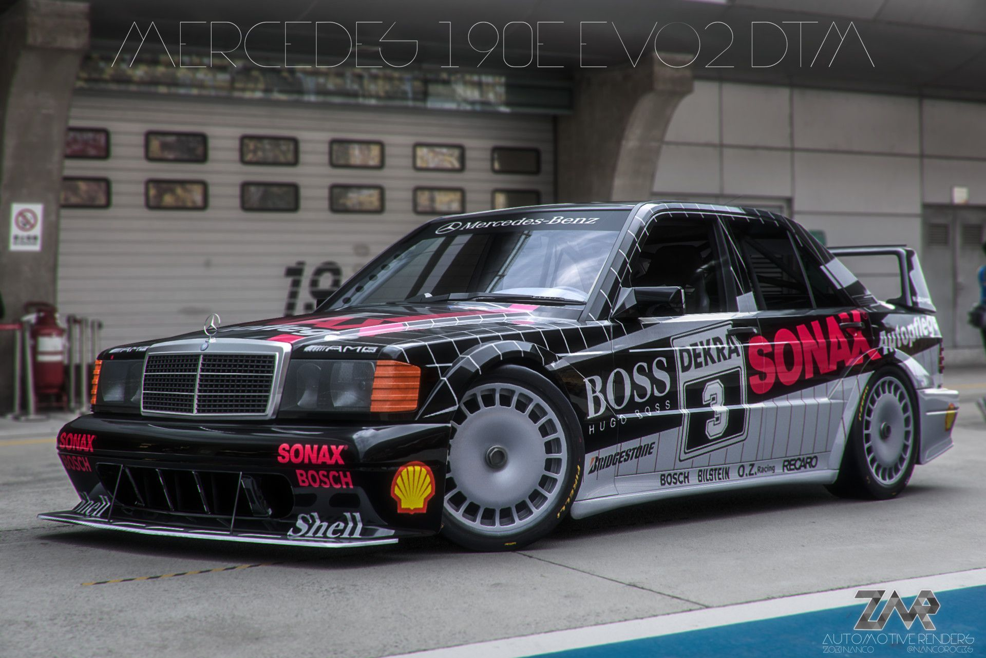 Mercedes 190e Evo Ii Gets Digital Revamp With New Amg Parts With