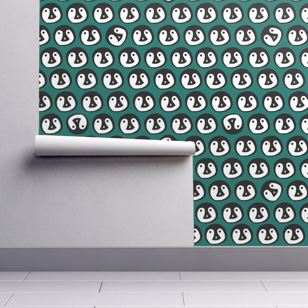 Meet the Isobar durable wallpaper, featuring Green Penguin