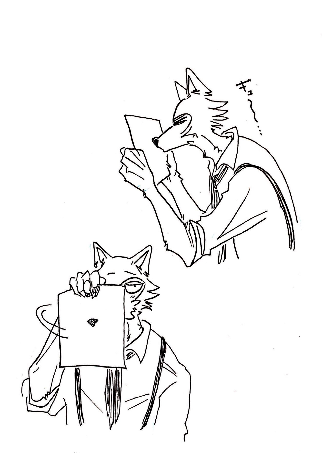 BEASTARS Anime kiss, Quirky illustration, Anime romance
