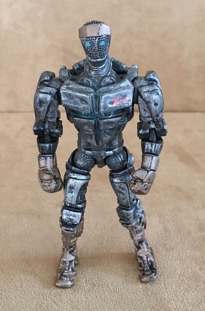 Real Steel 7 Action Figure Atom Jakks Pacific 2011 Movie Robot Fighting Jakkspacific Gigantes De Acero Acero Figuritas