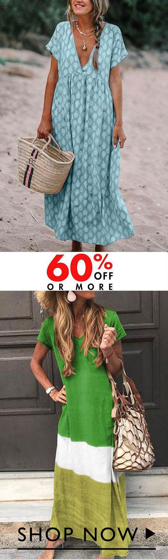 Photo of Hot Sale !! Sommer Casual kjoler med kort erme Trykte kjoler