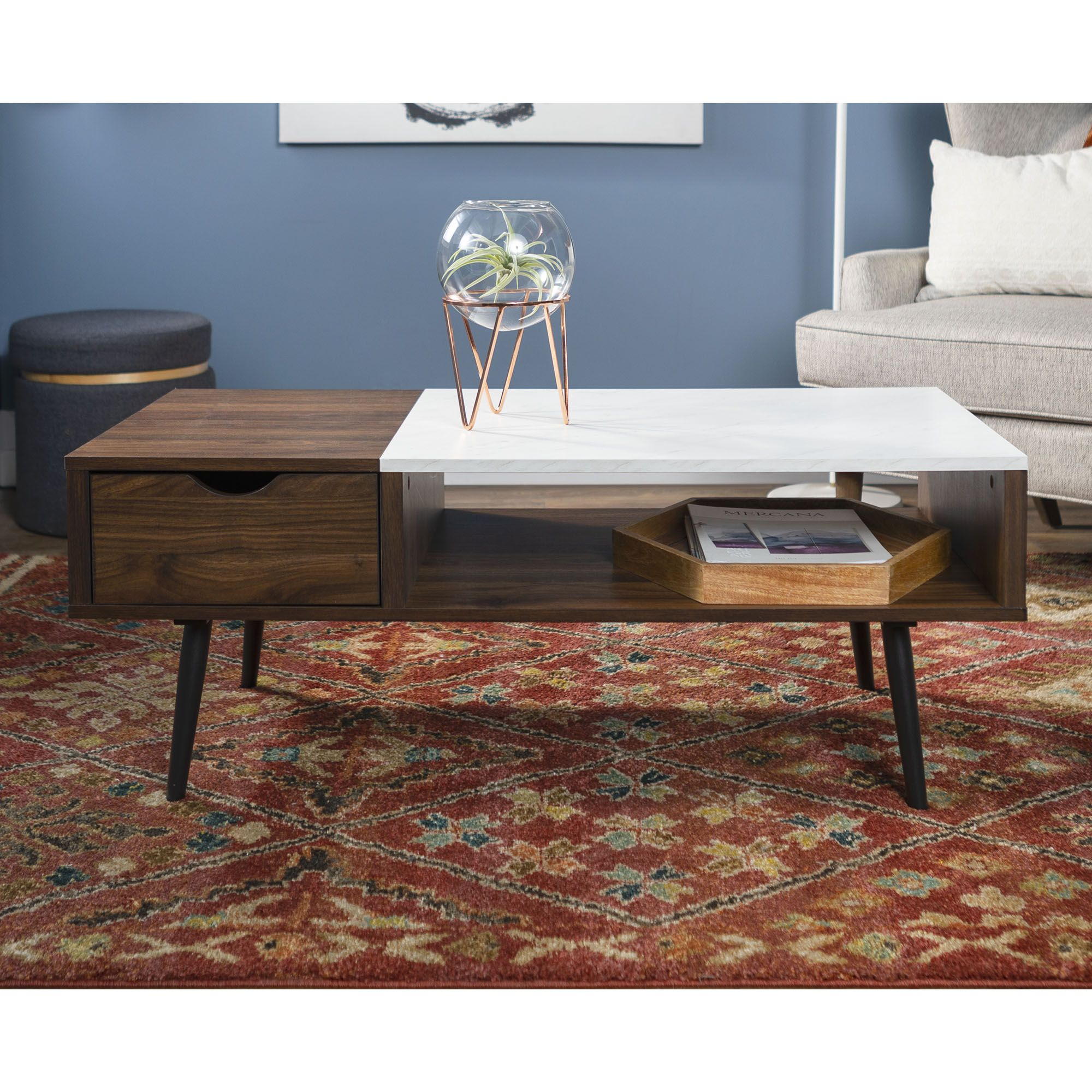 Booker Dark Walnut And Faux Marble Coffee Table By Bellamy Studios Walmart Com Faux Marble Coffee Table Coffee Table Walnut Coffee Table [ 2000 x 2000 Pixel ]
