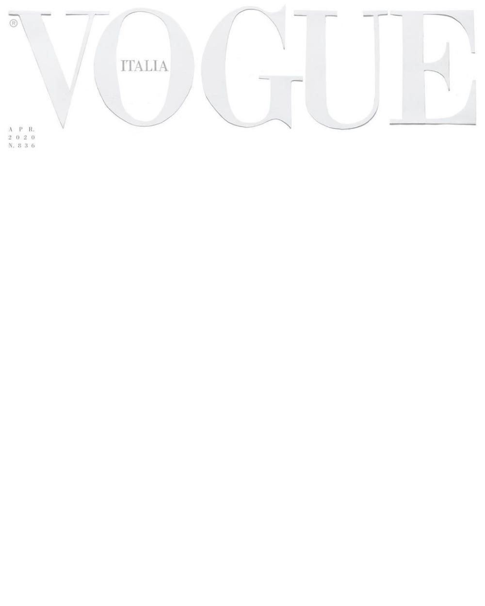 Vogue Italia Printed A Blank White Cover Vogue Italia Vogue Covers Magazine Cover Template