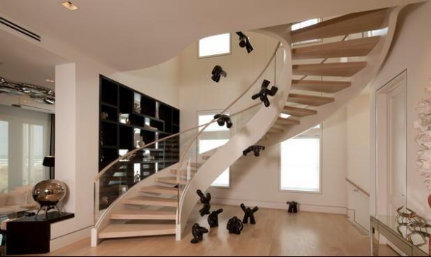 Dise os de escaleras para casas medianas buscar con - Tipos de escaleras de interior ...
