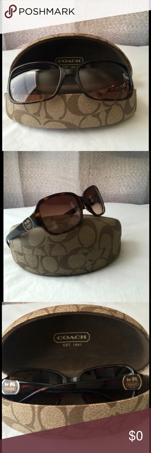 7ff1fff2f0e8 ... sweden coach sunglasses coach turquoise sunglasses s2048 5816125  preowned tiny scratch inside of arm very tiny