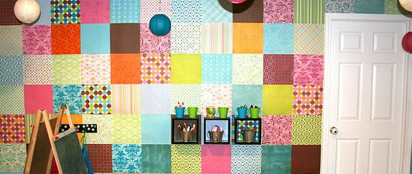 Scrapbook Paper Wallpaper Why Not Paper wallpaper