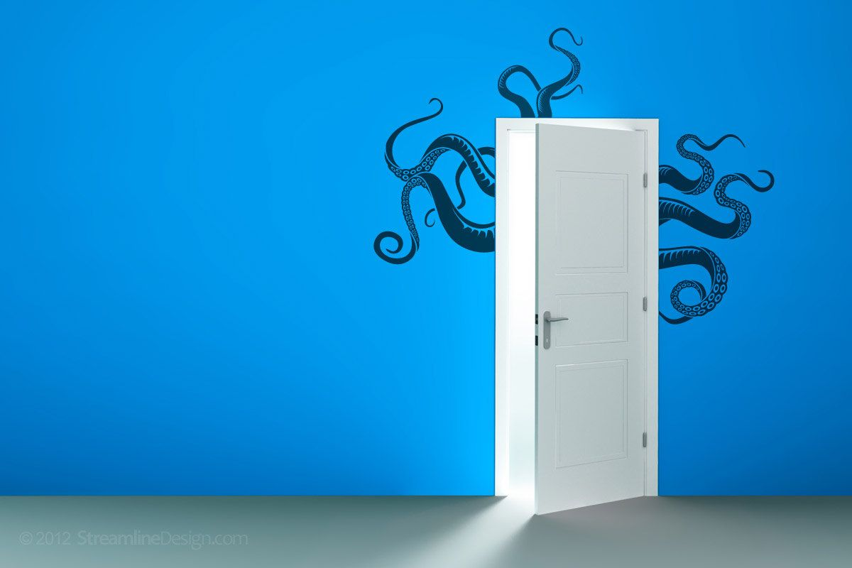 Octopus tentacles removable vinyl wall decor octopus wall decal