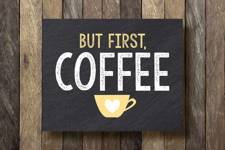 But first coffee yellow kitchen art but first coffee