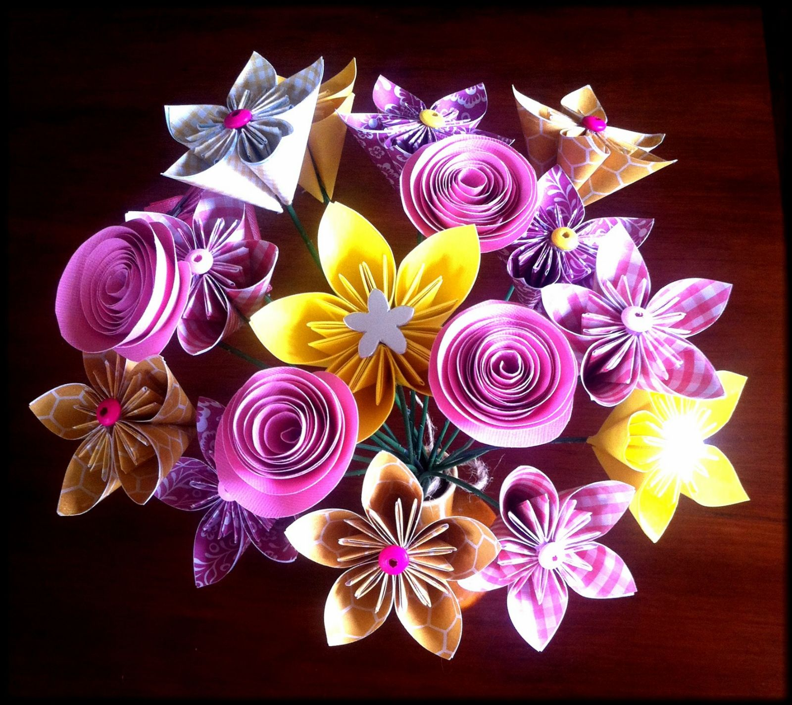 Origami flower bouquet made by order origami flower bouquet origami flower bouquet made by order dhlflorist Image collections