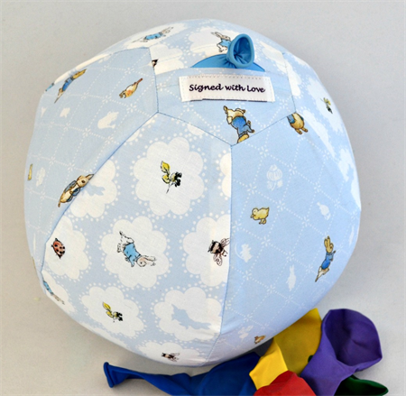 Balloon Ball Cover - Great Easter present! Little Peter Rabbit, two prints