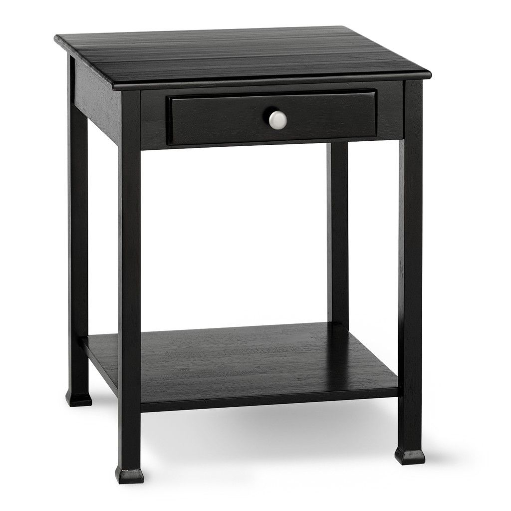 Everyday Living End Table 35 Black Silver Furniture