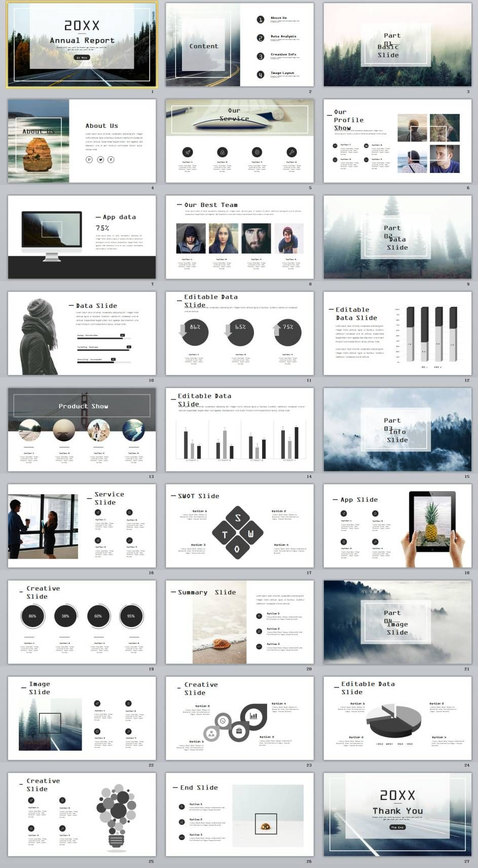 27 gray swot chart timeline powerpoint template slide pinterest