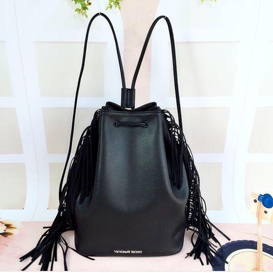 Victoria Secret Leather Fringe Bag