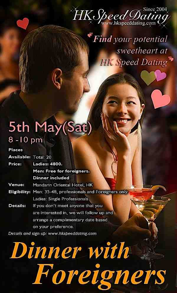 Speed dating for professionals hong kong