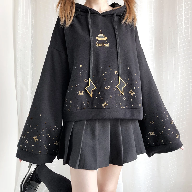 Kawaii Girl Space Travel Hoodie