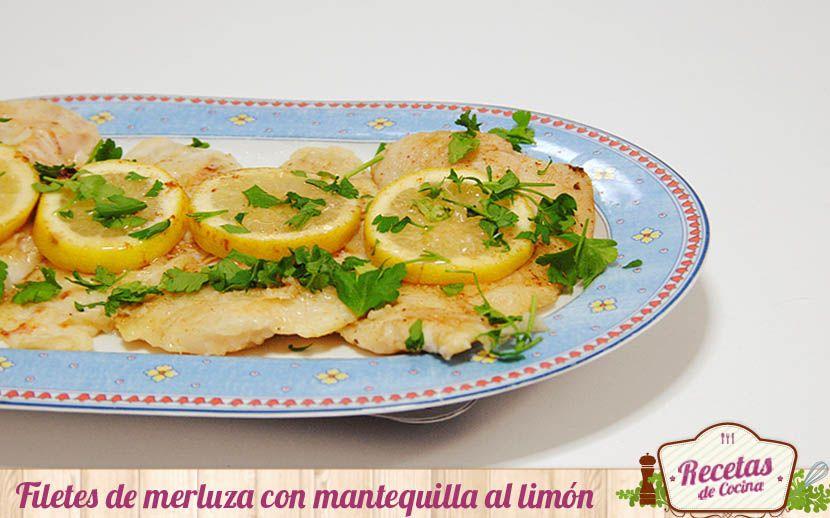 Filetes De Merluza Con Mantequilla Al Limón Receta Filetes De Merluza Comida Recetas De Comida