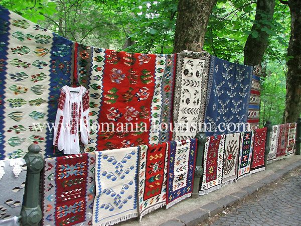 Romanian Folk Art Carpets And Shirt Wool Handmade