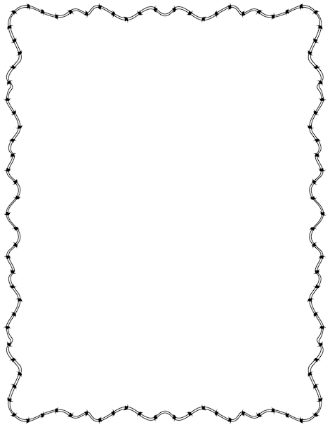 Barbed Wire Border Clip Art Page Border And Vector Graphics Page Borders Barbed Wire Borders For Paper