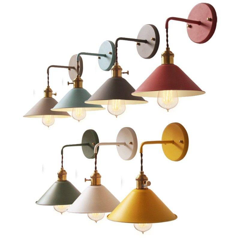 De chapada Pared Industrial Lámpara Retro Vintage Loft 9IYDW2EH