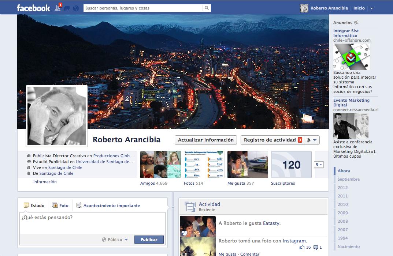 Facebook:  http://facebook.com/roberto.arancibia