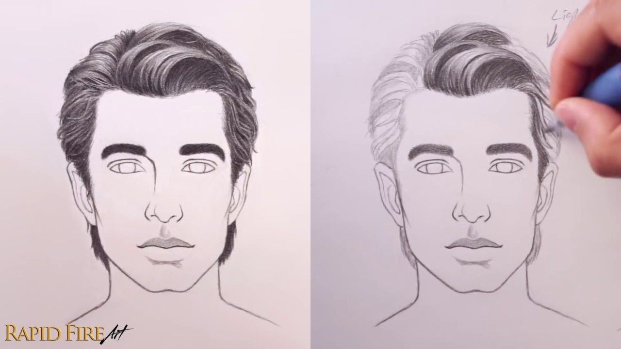 How To Draw Hair Male Female Ultimate Tutorial How To Draw Hair Realistic Hair Drawing Realistic Drawings